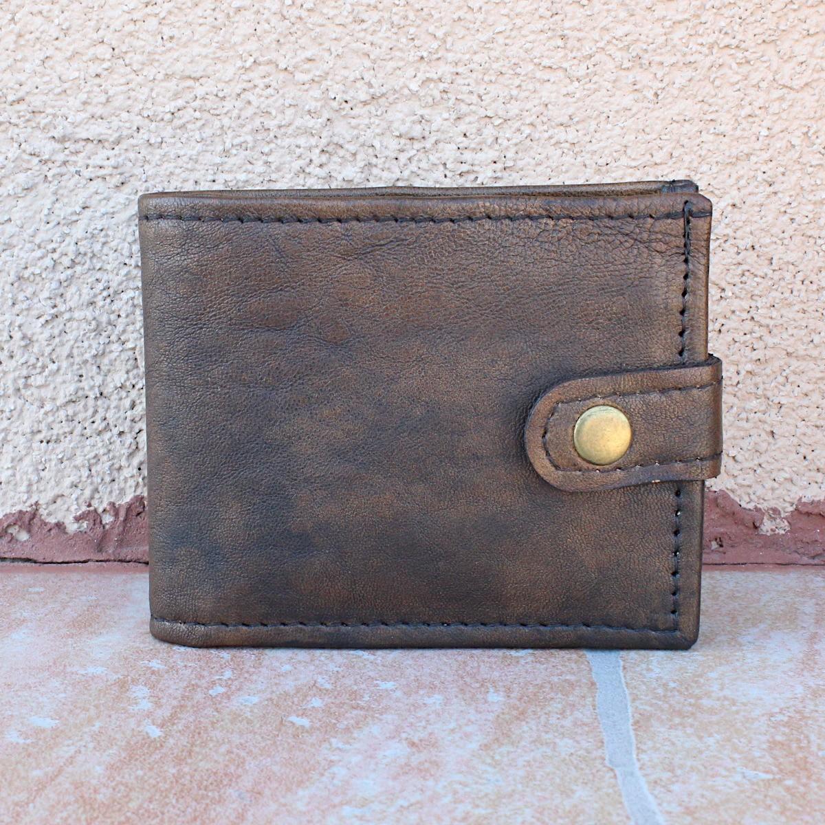 модерен мъжки кожен портфейл - отпред