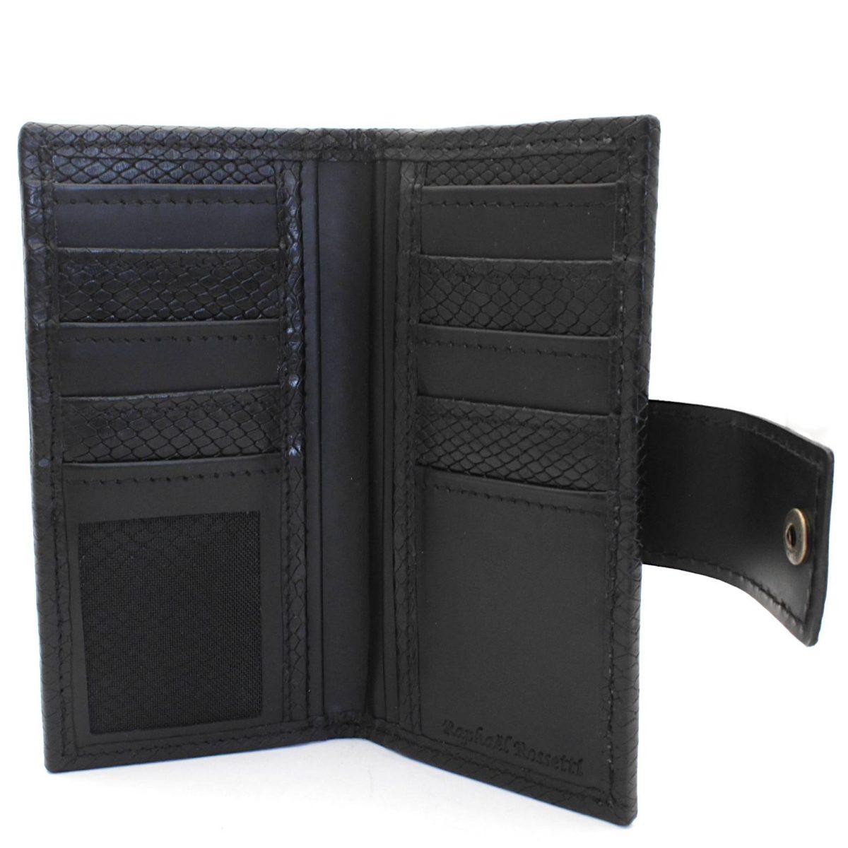 мъжки кожен портфейл с външен монетник - вътре