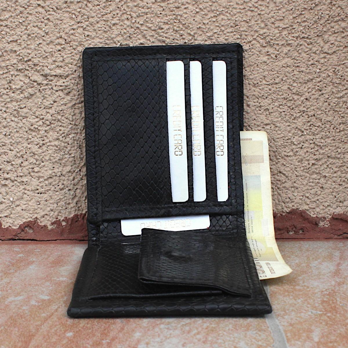 мъжки кожен портфейл естествена кожа - централно отделение