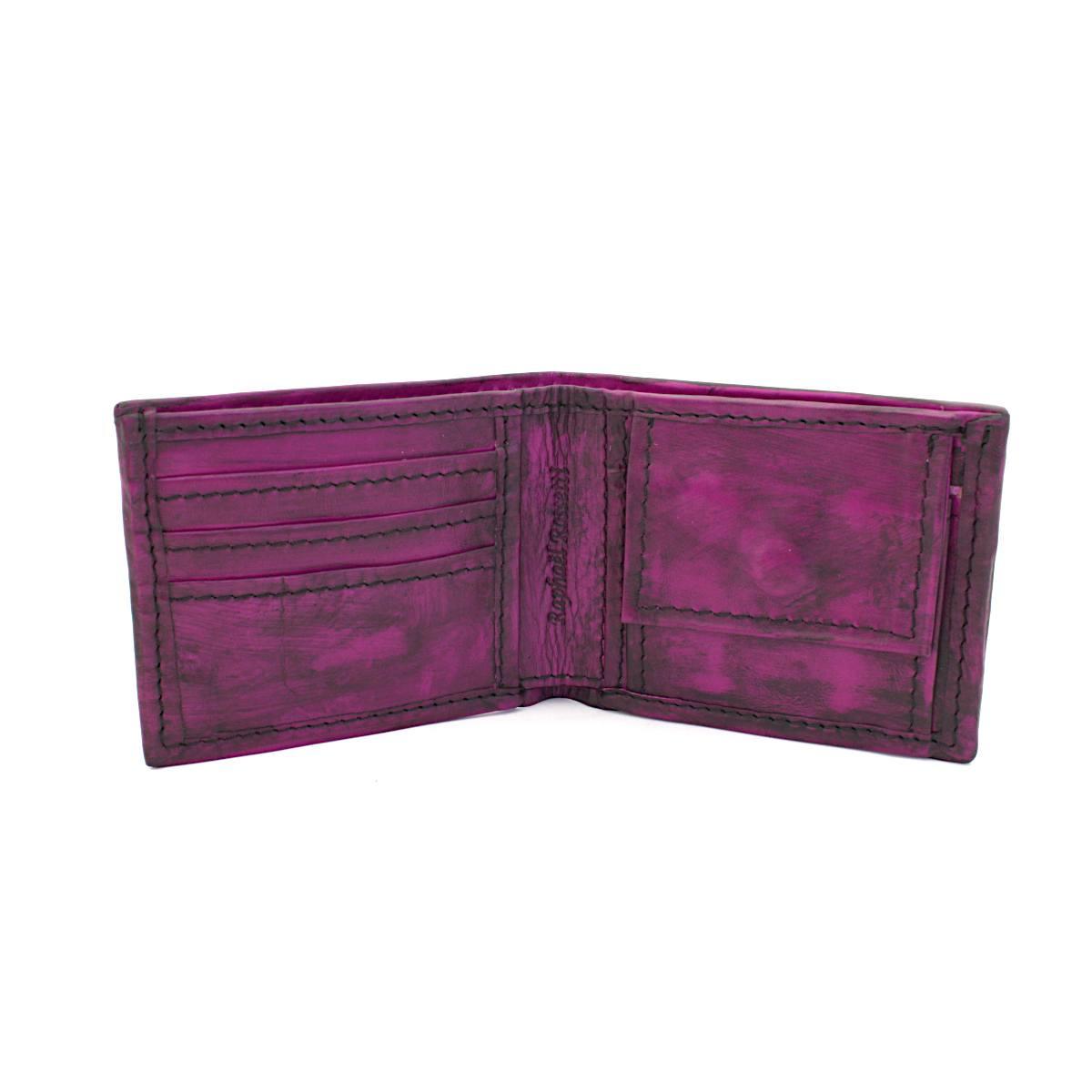 мъжки портфейл естествена кожа винтидж - вътре
