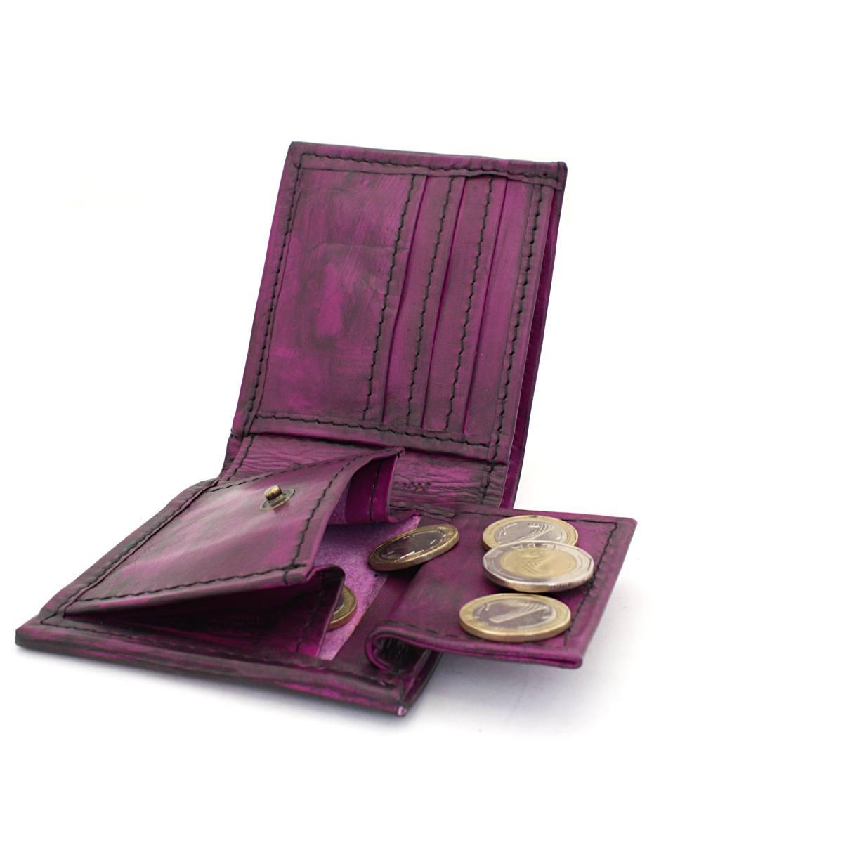мъжки портфейл естествена кожа винтидж - монетник