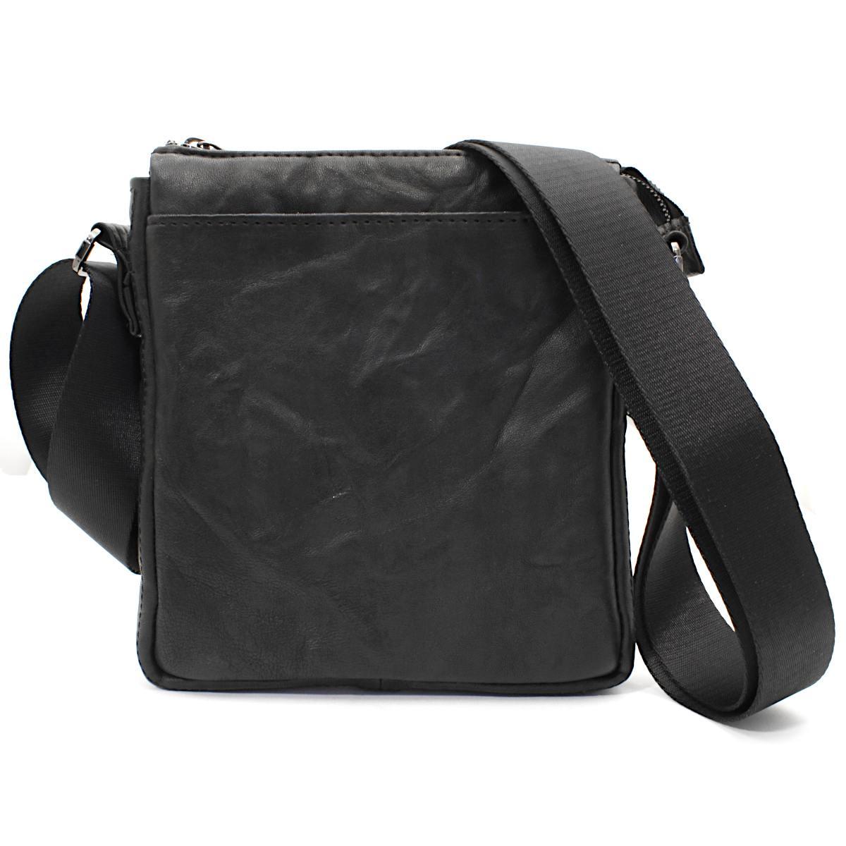 оригинална мъжка кожена чанта черна