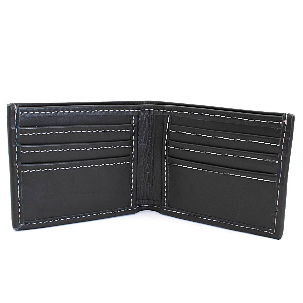 превъзходен мъжки кожен портфейл в черно - вътре