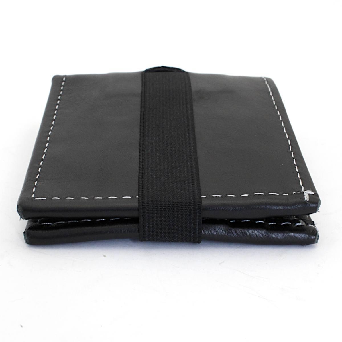 превъзходен мъжки кожен портфейл в черно - отстрани