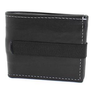 превъзходен мъжки кожен портфейл в черно