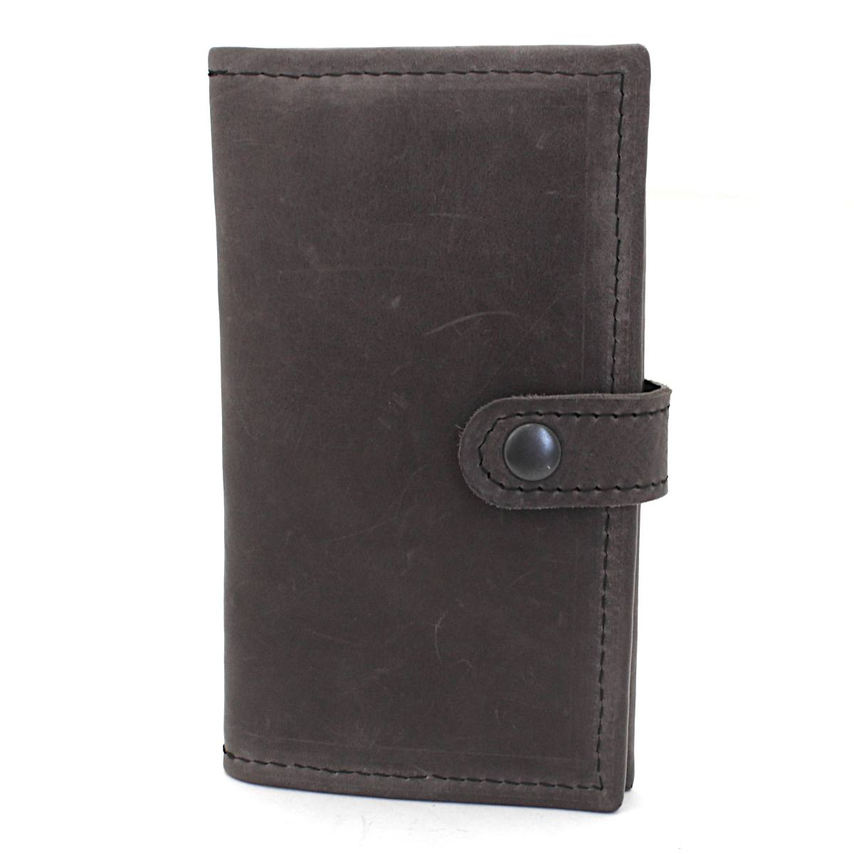 ръчно изработен кожен портфейл сив