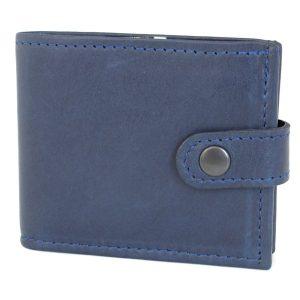 тъмно син мъжки портфейл естествена кожа