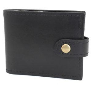 черен класически мъжки кожен портфейл