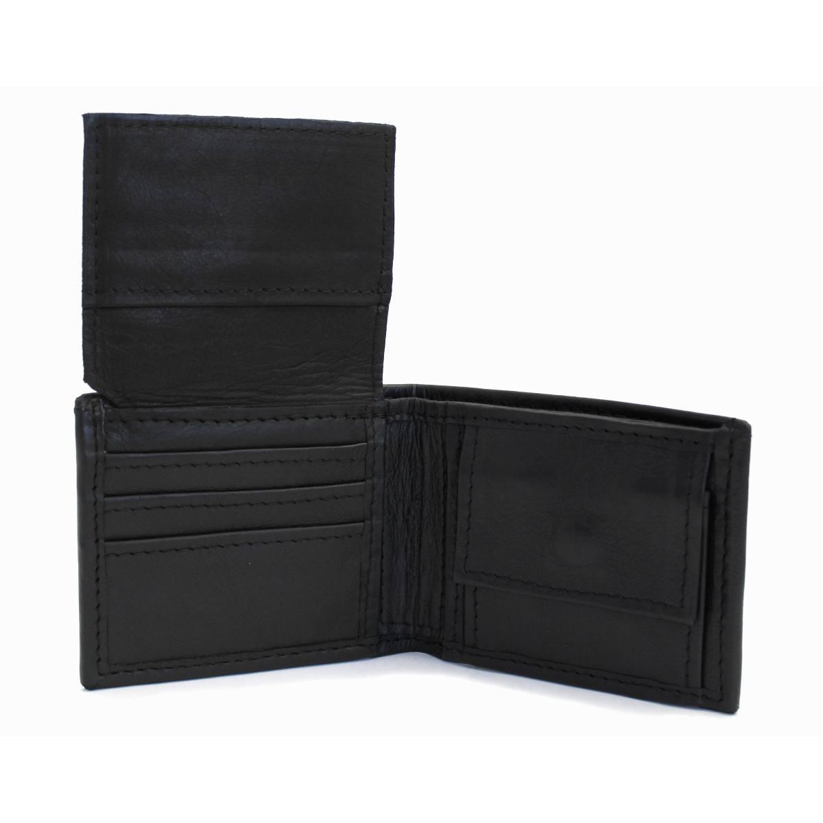 кожен портфейл лукс в черно - вътре