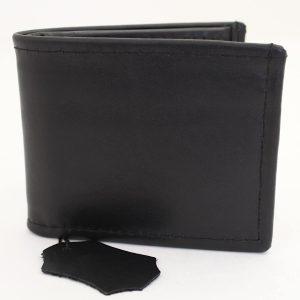мъжки кожен портфейл в черно и жълто