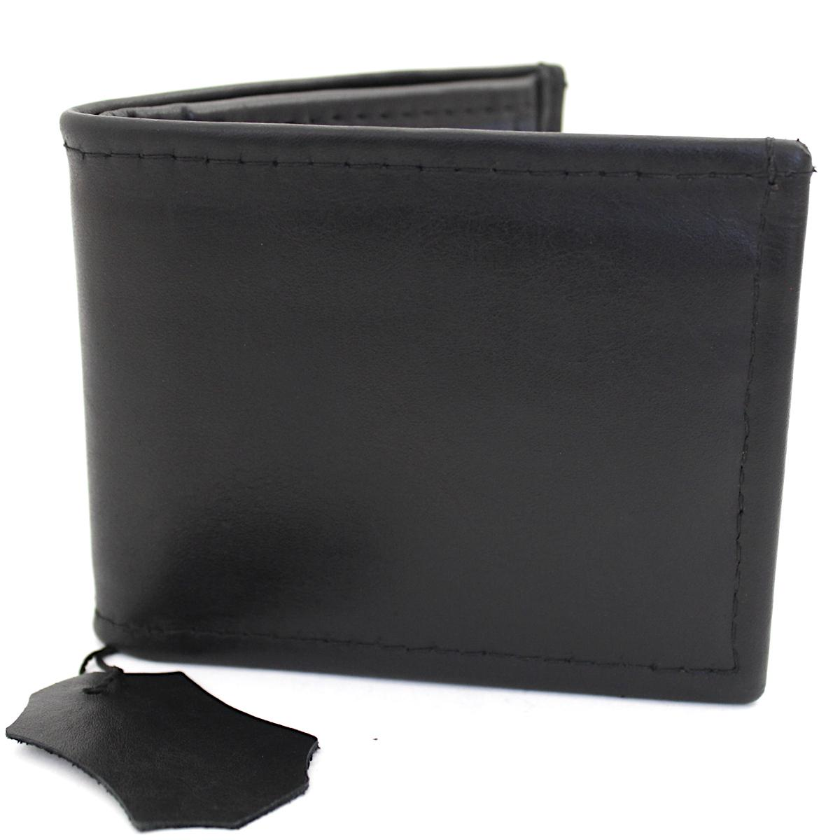 мъжки кожен портфейл черно/тъмно синьо