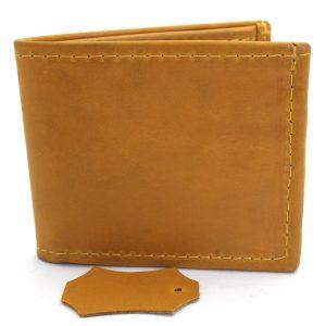 мъжки портфейл естествена кожа жълт