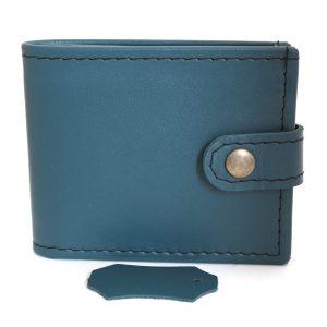 зелен мъжки портфейл естествена кожа